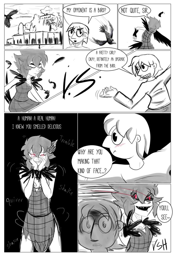 Character Battles II: Zachary Vs Morrigan page 1